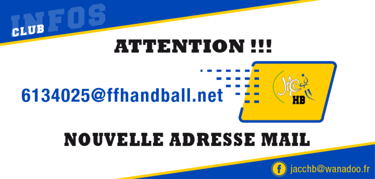 Nouvelle Adresse Mail