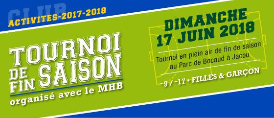 Tournoi de Fin de Saison Jacou - MHB
