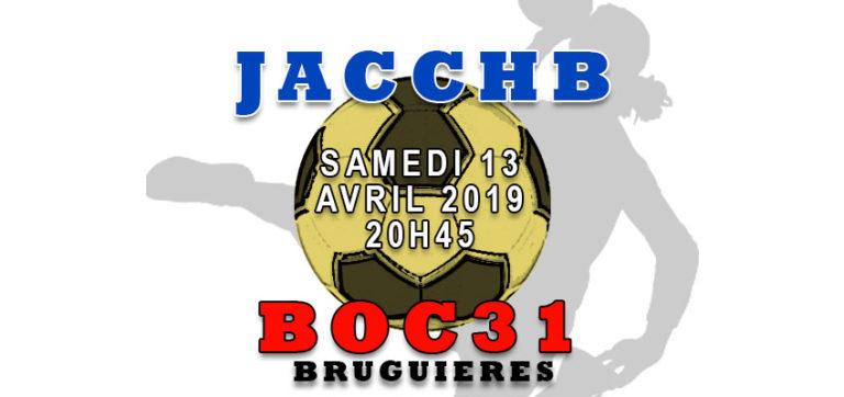 Match Nationale 3 Féminine : JACCHB - Bruguières