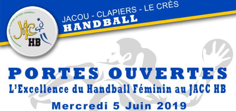 Portes Ouvertes Handball Féminin le Mercredi 5 Juin 2019