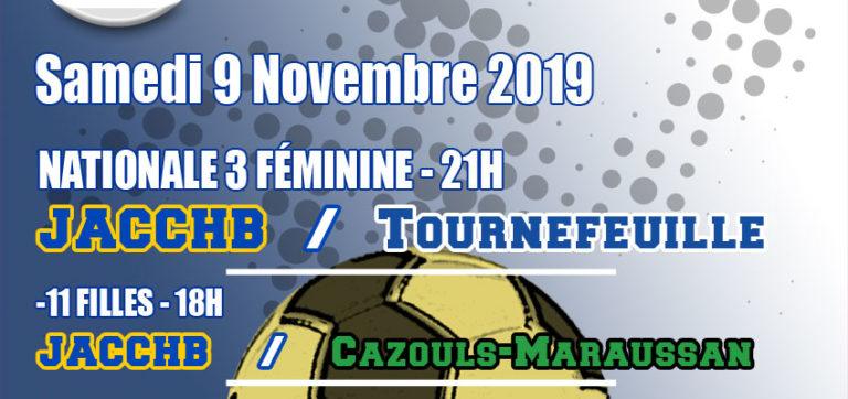 Match Nationale 3 Féminine : JACCHB - Tournefeuille HB