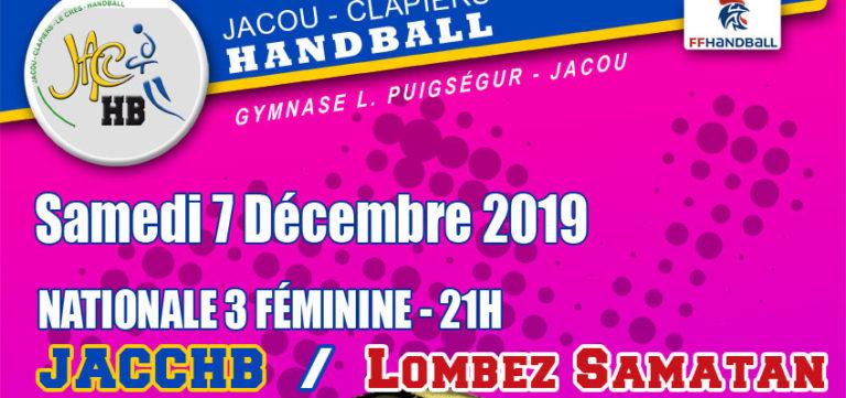 Match Nationale 3 Féminine : JACCHB - Lombez Samatan