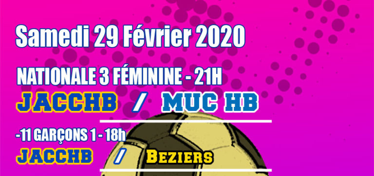 Match Nationale 3 Féminine : JACCHB - MUC
